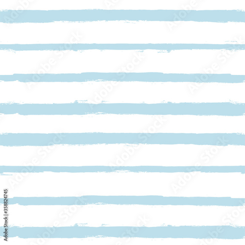 Hand drawn striped pattern, baby blue navy stripe seamless background, childish pastel brush strokes. vector grunge stripes, cute paintbrush line backdrop Fotomurales