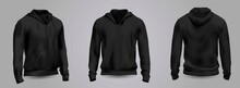 Black Men's Hooded Sweatshirt ...