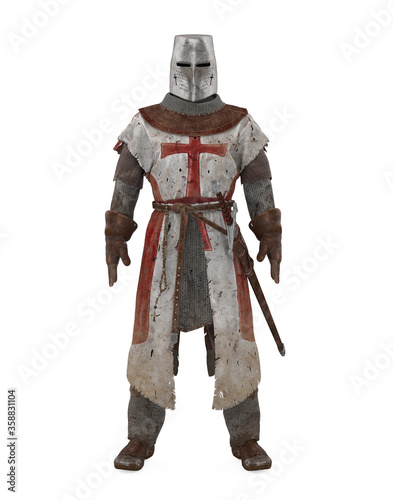 Fotografía Templar Knight Armor Isolated