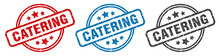 Catering Stamp. Catering Round...