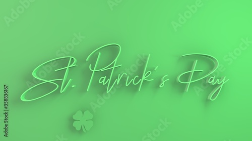 Fototapety, obrazy: 3d text on colorful background saying St. Patrick's day