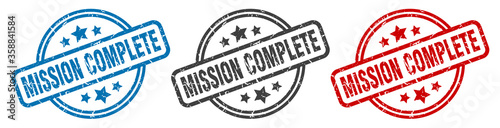 Fotografie, Obraz mission complete stamp