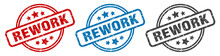 Rework Stamp. Rework Round Isolated Sign. Rework Label Set