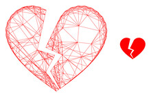 Web Net Broken Love Heart Vect...