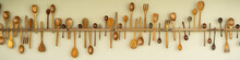 Wooden Spoon, Fork And Kitchen...