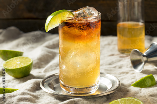 Boozy Rum Dark and Stormy Cocktail