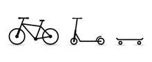 Icons: Bike, Scooter, Skateboa...