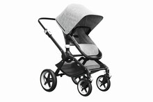 3D Render Of A Stylish Modern Stroller On A White Background