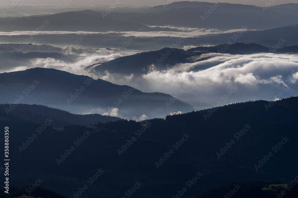 Fototapeta Gorce góry w nocy