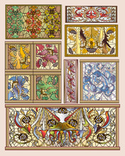 Stained Glass Art Deco & Art N...