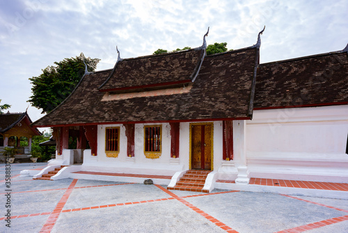 Fototapeta It's Part of the Vat sen complex , one of the Buddha complexes in Luang Prabang which is the UNESCO World Heritage city obraz