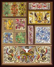 Stained Glass Art Deco & Art Nouveau Designs Collection