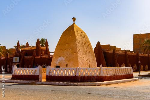 Red architecture of Timimoun, Adrar Province, south-central Algeria Wallpaper Mural