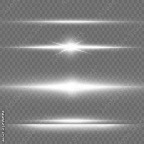 White glowing light. Slika na platnu