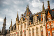 canvas print picture - It's Provinciaal Hof on the Market square in the Historic Centre of Bruges, Belgium. part of the UNESCO World Heritage site
