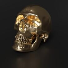 3D Skull Background