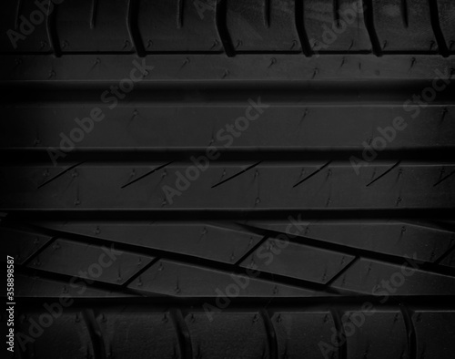 Car tire texture or background and gradients shadow, copy space Canvas Print