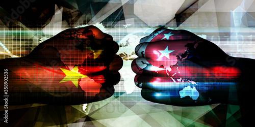 Fotografie, Obraz China vs Singapore