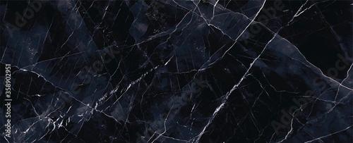Obraz navy blue Marble rock stone texture wallpaper background - fototapety do salonu
