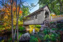 Cilleyville Bog Bridge, Andover, New Hampshire, USA, October 05,2019