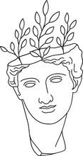 Aesthetic Greek Bust Sculpture...