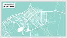 Manzanillo Cuba City Map In Re...