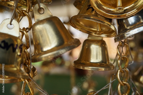 Fotografia, Obraz A small bell in the temple of thailand