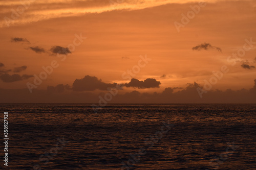 sunset over the sea