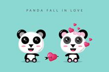 A Cute Panda Couple Is In Love