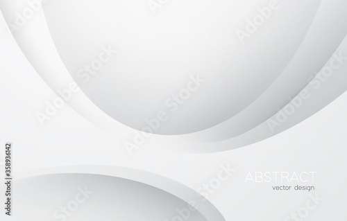 Obraz Abstract white monochrome vector background, for design brochure, website, flyer. Smooth white wallpaper for certificate, presentation, landing page - fototapety do salonu