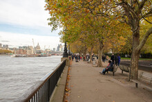 A View To River Thames In Lond...