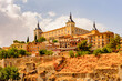 Alcazar of Toledo, a stone fortification located in the highest part of Toledo, Spain.