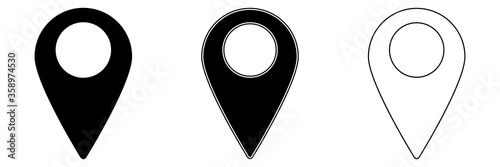 Fototapeta Location Pin Icon. Stock Vector