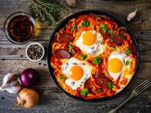 Shakshuka - Fried Eggs With Ch...