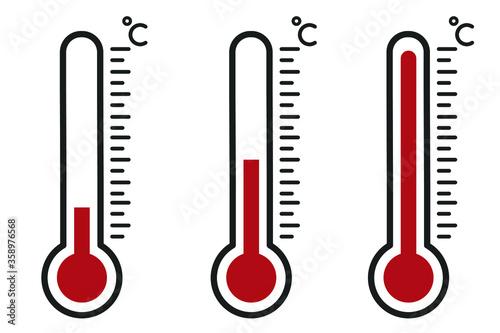 Fototapeta Thermometer icon , vector illustration