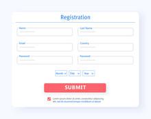Interface Registration Form UX...