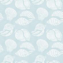 Seashells Seamless Pattern Vin...