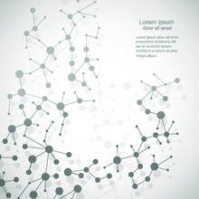 Abstract Gray Molecule On A Light Background.Vector Illustration.