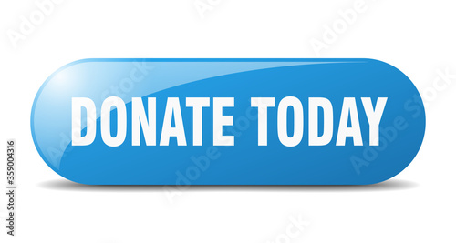 Obraz donate today button. donate today sign. key. push button. - fototapety do salonu