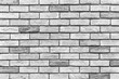 canvas print picture - Vintage old white brick wall texture and seamless background.