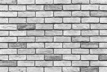 Vintage Old White Brick Wall T...