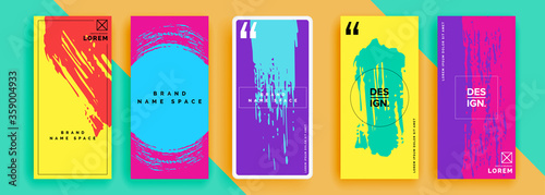 Fotografija Trendy editable template for social networks stories, vector illustration