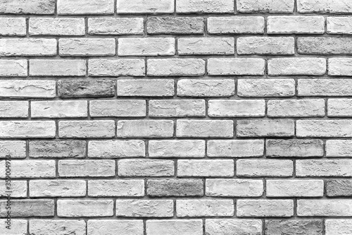 Carta da parati Vintage old white brick wall texture and seamless background.