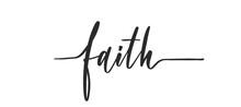 Faith - Calligraphic Inscripti...