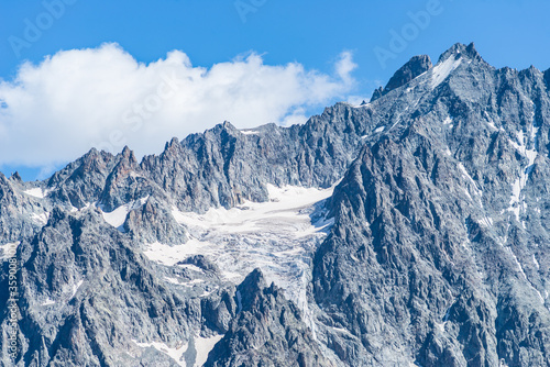 Photo Mountain landscape on the french Alps, Massif des Ecrins