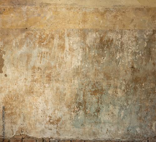 Photo Glatte Wände aus einem alten Schloss mit sehr interessanten Strukturen
