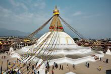 Buddhanath Stupa In Kathmandu,...