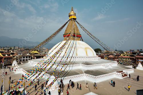 Obraz na plátně Buddhanath stupa in Kathmandu, Nepal