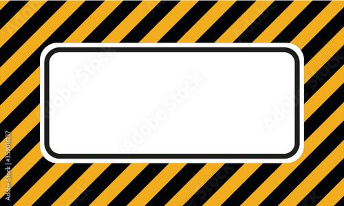 Obraz na plátně fond ou bannière lignes diagonales noir et jaune représentant un danger ou limit