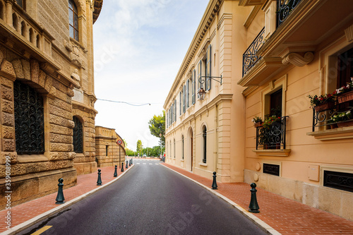 It's Architecture of Monaco-Ville, Monaco. Principality of Monaco is the second smallest and the most densely populated country in the world